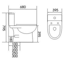 Treo Two-piece Toilet Bowl ECO 188
