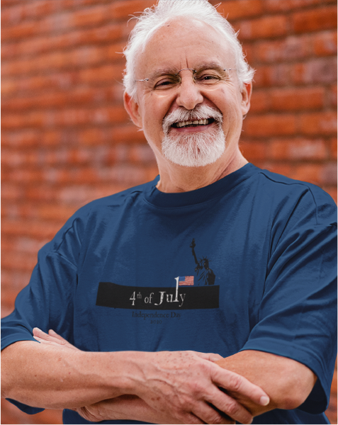 4th of July Independence Day 2020 Men's Tee