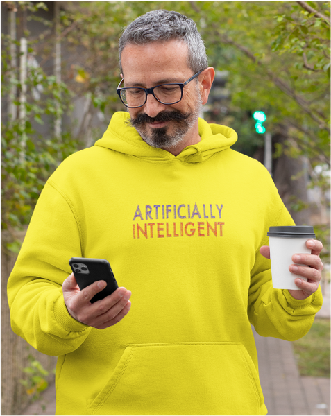Artificially Intelligent Men's Pullover Hoodie