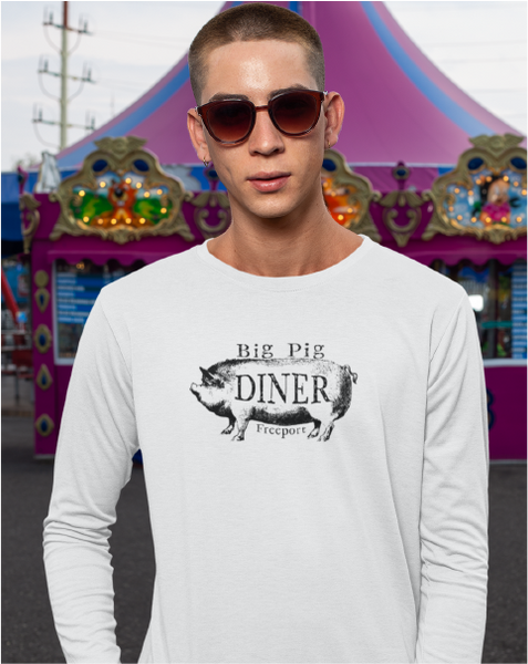 Big Pig Diner Men's Long Sleeve Tee