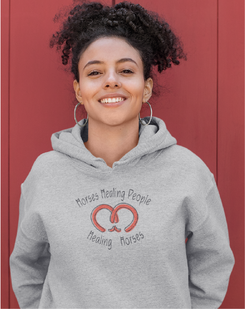 Horses Healing People Healing Horses Ladies' Hoodie