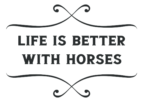 Life Is Better With Horses Ladies Long Sleeve Tee