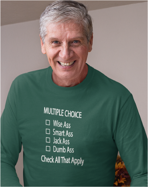 Multiple Choice Men's Long Sleeve Tee