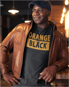 ORANGE & BLACK Men's Tee