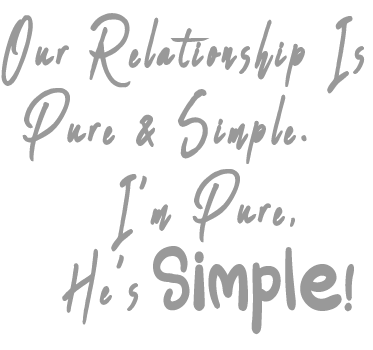 Our Relationship Is Pure & Simple Ladies' Tee