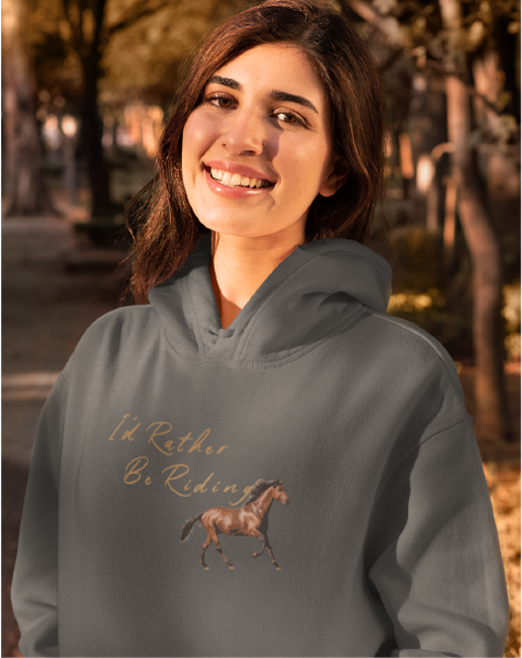 I'd Rather Be Riding Ladies' Pullover Hoodie