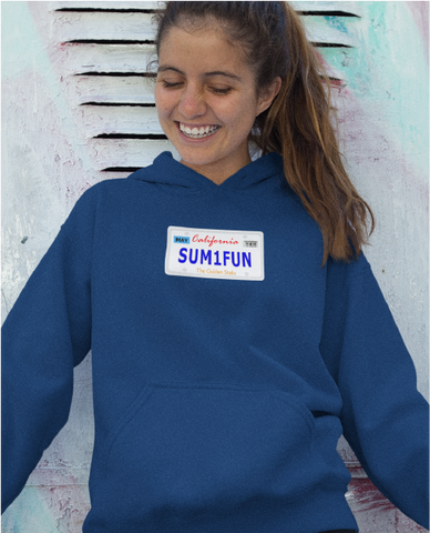 SUM1FUN California License Plate Ladies' Hoodie