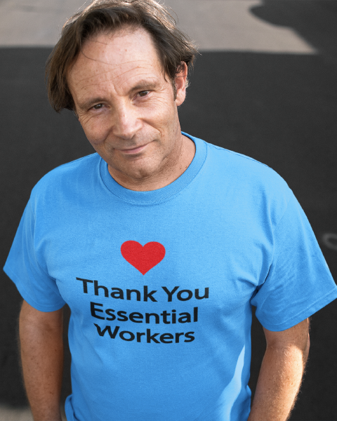 Thank You Essential Workers Men's Tee