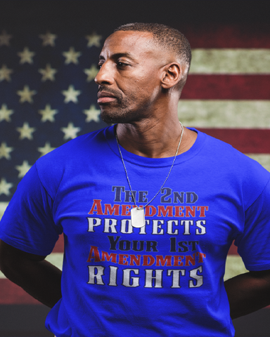 The 2nd Amendment Protects Your 1st Amendment Rights Gildan 5.3 oz. T-Shirt