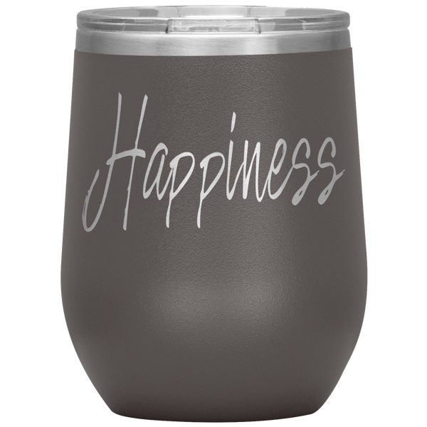 Happiness 12 oz. Wine Tumbler