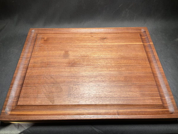 Butcher block cutting board, Walnut, Large, HFB half face engraving,