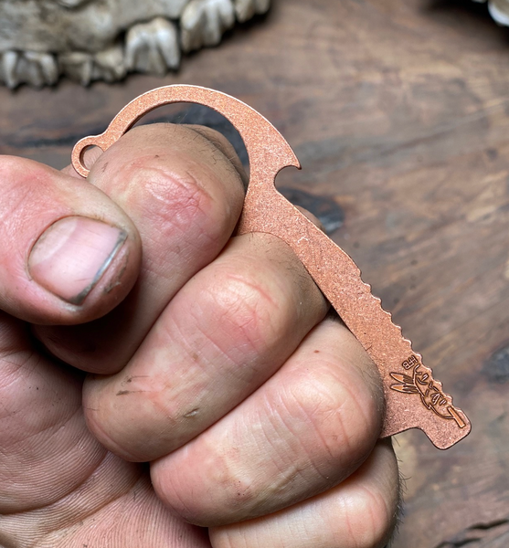 Freedom fingers, copper single ring,