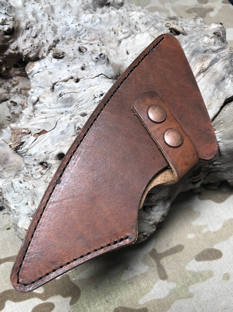 LEATHER SHEATH FOR BLEEDING HEART HAWK (FULL SIZE)