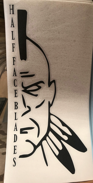 DECALS, Half Face Blades logo