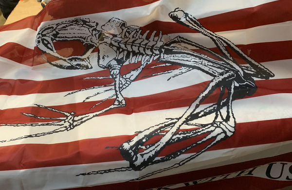 DONT FUCK WITH US FLAG, bone frog print