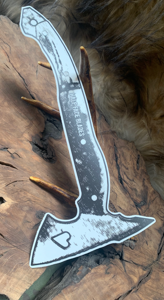 Tomahawk sticker, bleeding heart hawk