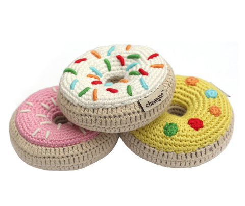 Cheengoo Donut Crocheted Rattle