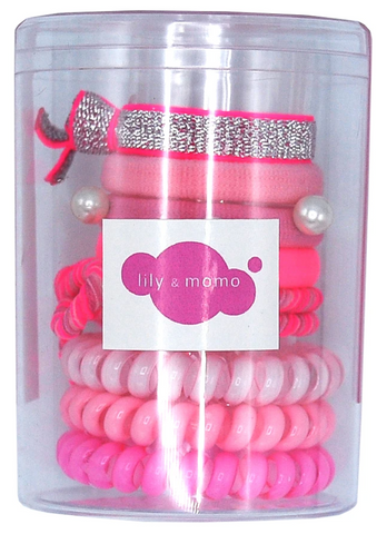 Lily & Momo Colorpop Hair Ties - Pink