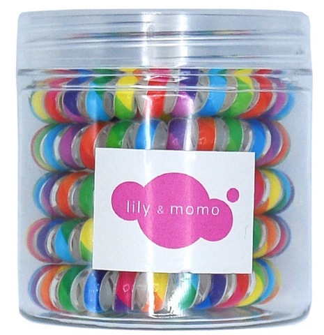 Lily & Momo Rainbow Telephone Hair Ties