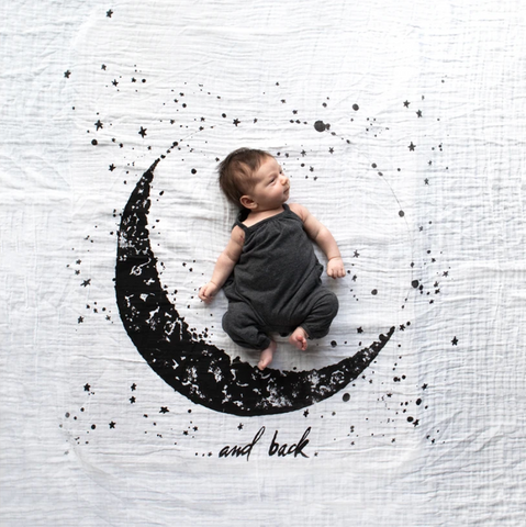 Baby Jives Swaddle Blanket - Moon and Back