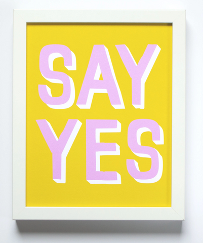 Banquet Print - Say Yes