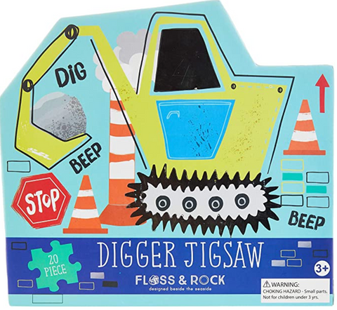 Floss and Rock - Construction 20pc Jigsaw Puzzle