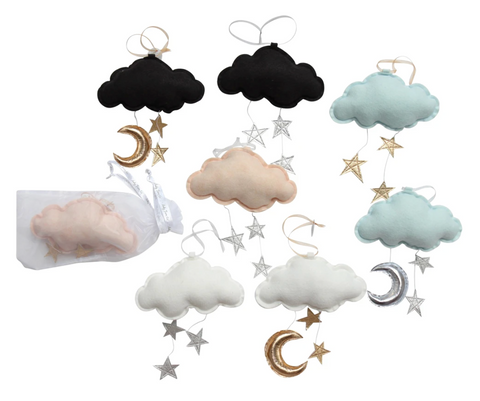 LUXE WALL HUNG STAR CLOUD MOBILE by Baby Jives