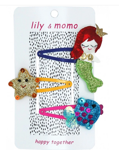 Lily & Momo Under The Sea Trio Hair Clips