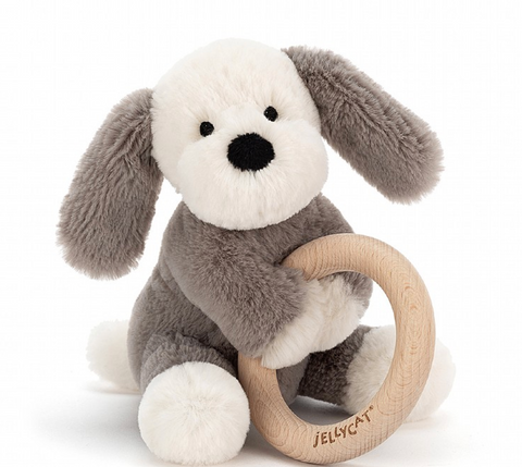Jellycat Wooden Teether Puppy