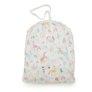 LouLou Lollipop-Muslin Fitted Crib Sheet