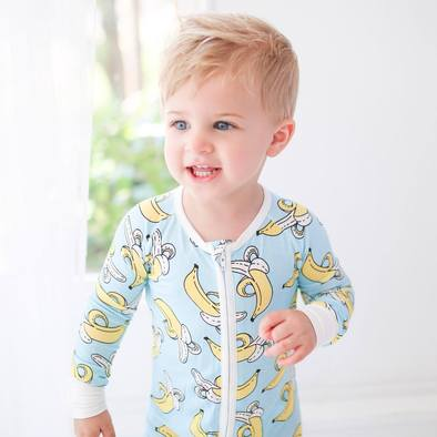 Little Sleepies Banana Baby & Toddler Bamboo Viscose Zippy