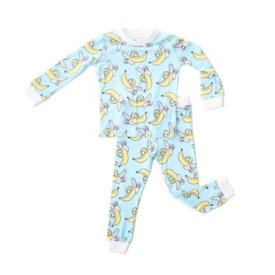 Little Sleepies Bananas Two-Piece Toddler/Kids Bamboo Viscose Pajama Set