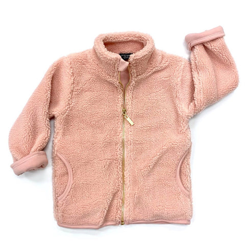Little Bipsy Sherpa Jacket- Blush (Sale!)