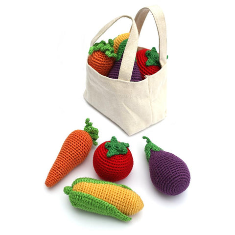 Cheengoo Veggies Crocheted Rattles (Set of 4(