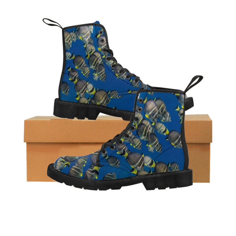 Ocean Tangs Men's Canvas Boots