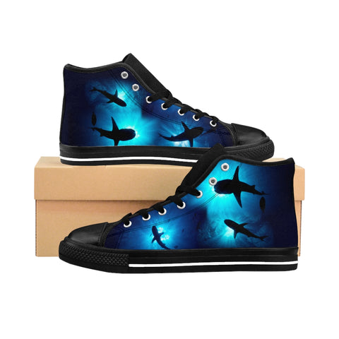 Shark Sunburst Men's High-top Sneakers