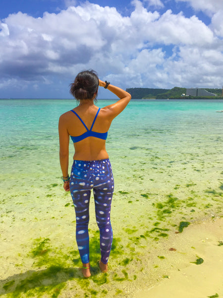 Whale Shark Blue Leggings