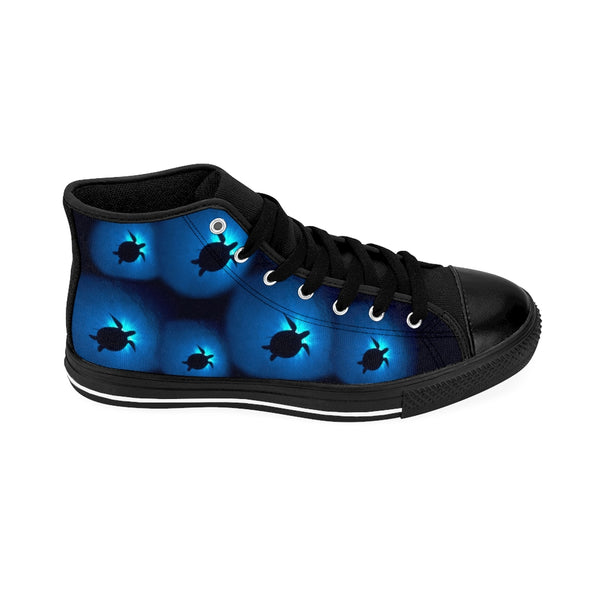Sea Turtle Sunburst Men's High-top Sneakers