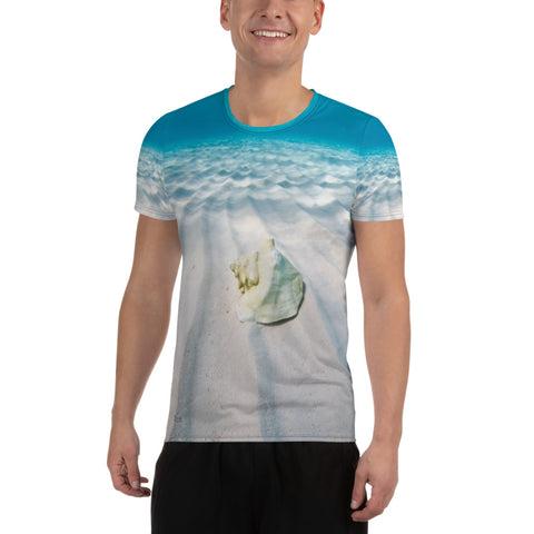 Bahamas Conch All-Over Print Men's Athletic T-shirt