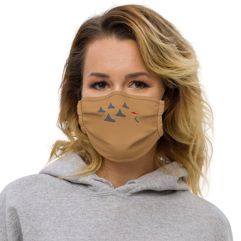 Eagle Ray City Premium face mask (with filter pocket)