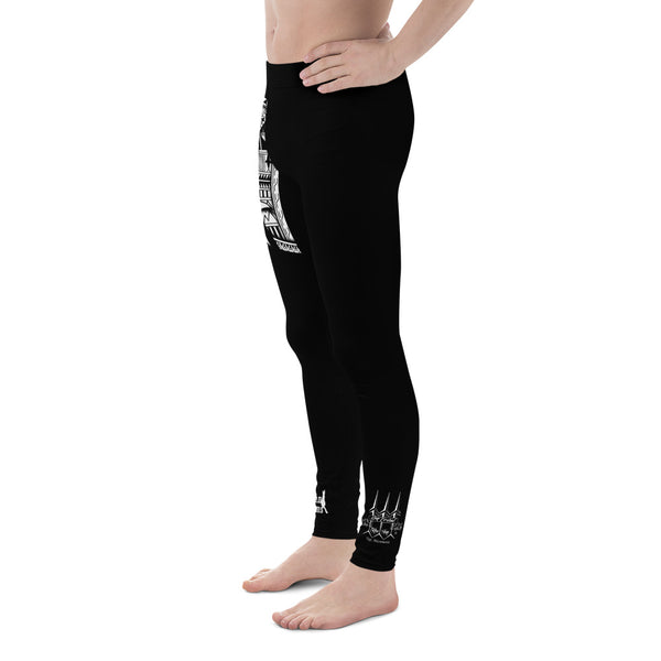 Men's Tribal Hammerhead Leggings Design by Leo Pugram