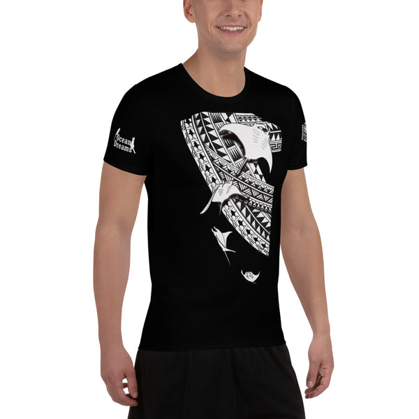 Leo Pugram Tattoo Style All-Over Print Men's Athletic T-Shirt