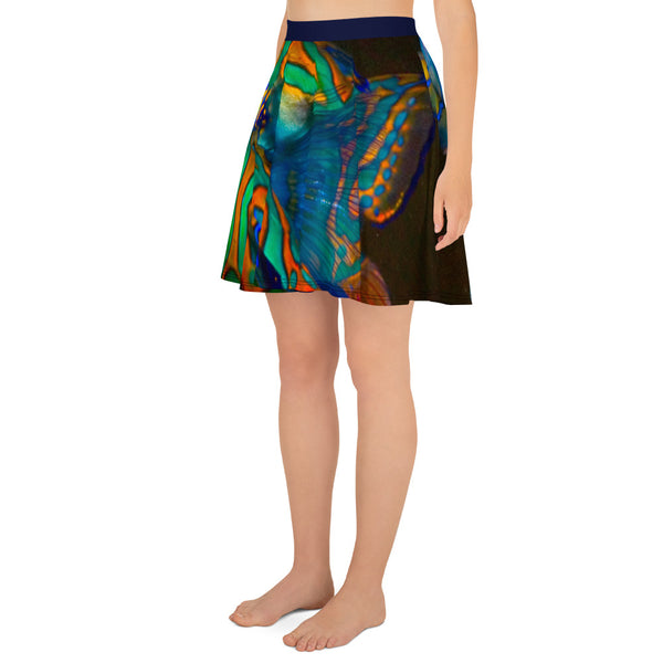 Mandarinfish Skater Skirt