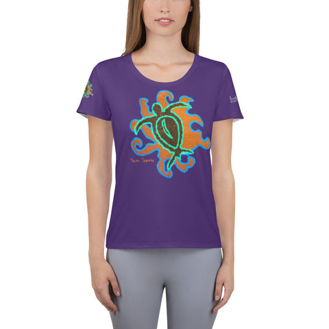 Pacific Traveler design All-Over Print Women's Athletic T-shirt