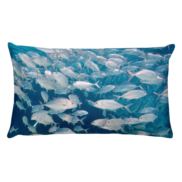 Swirling Jacks School Rectangular Pillow