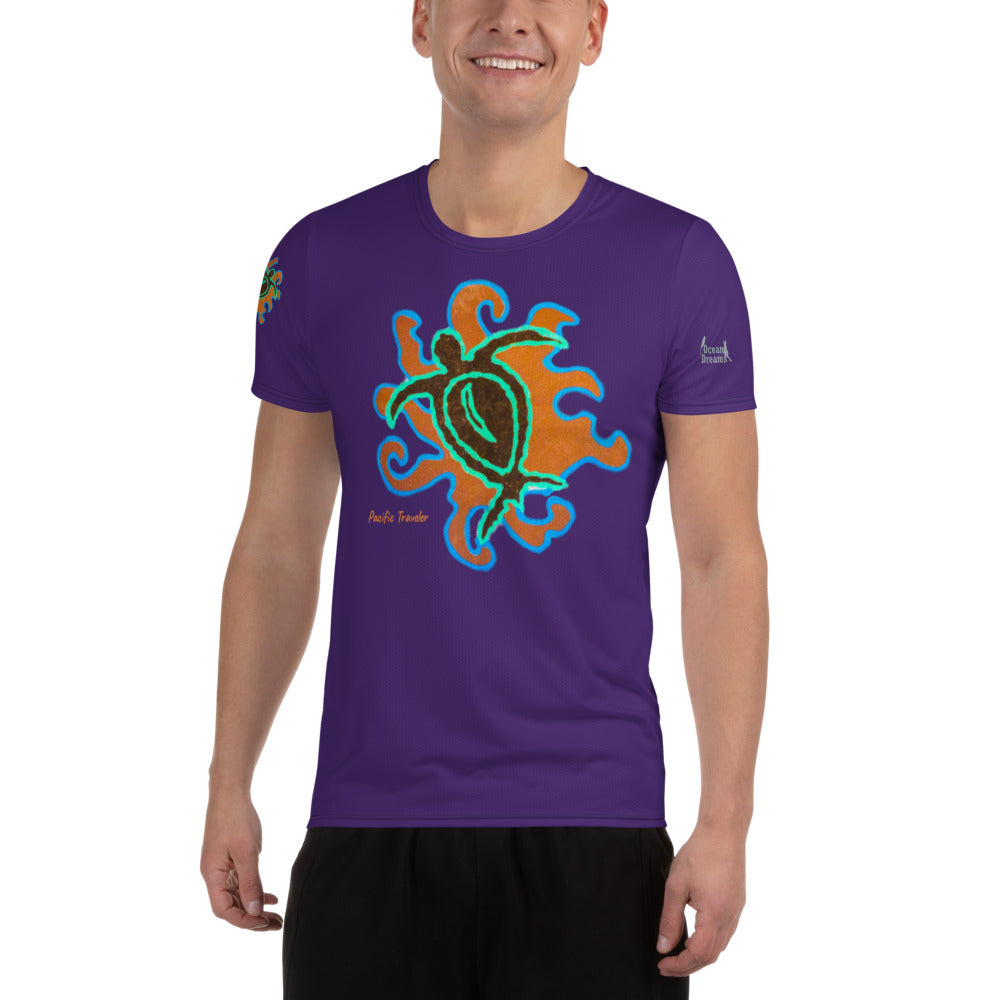 Pacific Traveler All-Over Print Men's Athletic T-shirt