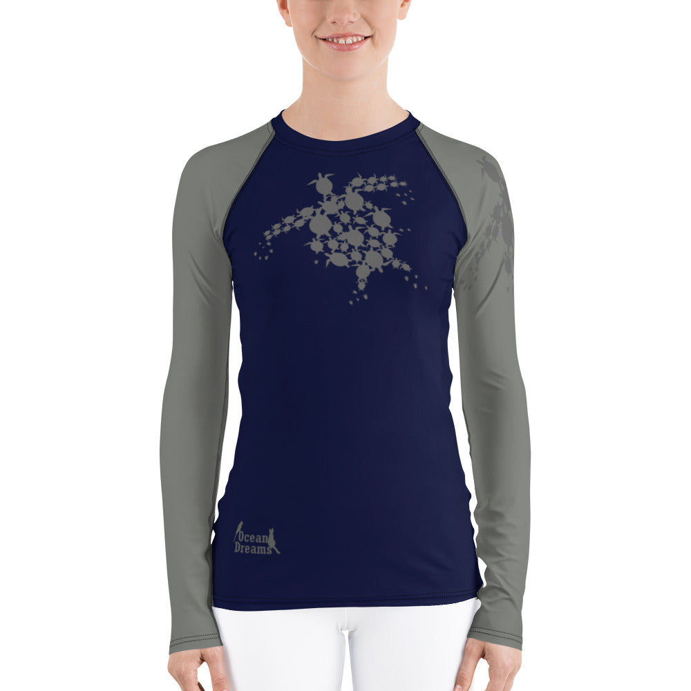Turtle Time Women's Rash Guard