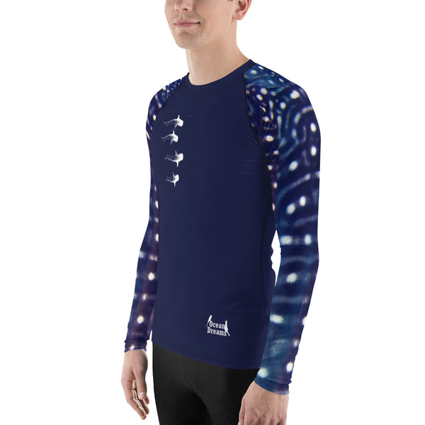 Whale Sharking BLUE Men's Rash Guard