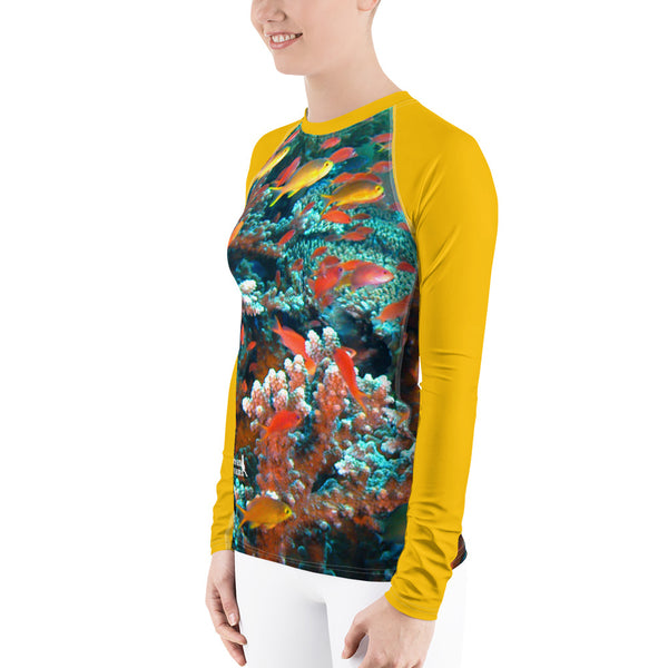 Butterscotch Anthias Women's Rash Guard