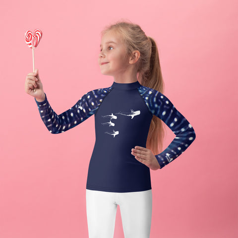 Kids Whale Shark Design Rash Guard